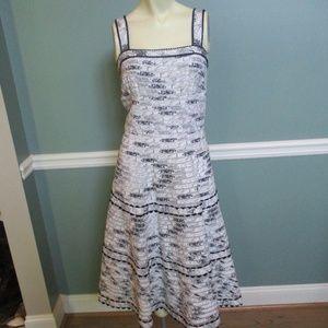 Anthropologie Elevenses Black White Dress 4